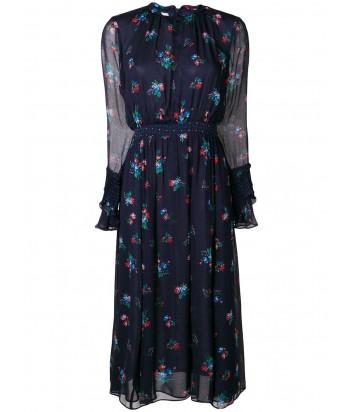 Легкое синее платье PINKO 1G13F7 с цветочным принтом