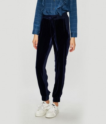 Синие брюки PINKO 1G13KX с боковыми карманами