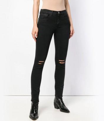 Черные джинсы-скинни PINKO 1G13ML с рваными коленями