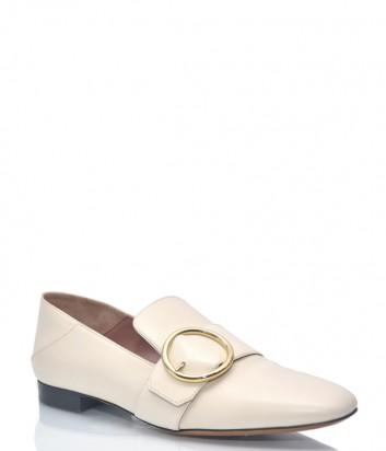 Кремовые туфли-мюли Bally 1144 с загибающимся задником