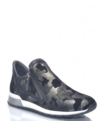 Женские кроссовки Baldinini 9124 с камуфляжным принтом