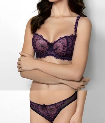 Комплект Ewa Bien Dream бюст с мягкой чашкой B139 и стринги C322 фиолетовый