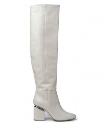 Белые ботфорты Vic Matie из гладкой полуглянцевой кожи