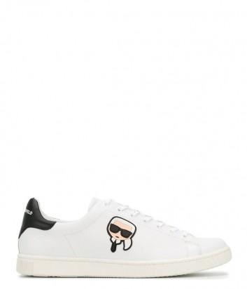 Мужские кожаные кеды Karl Lagerfeld Karl Ikonik белые