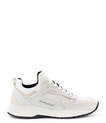 Мужские кожаные кроссовки Crime London Komrad белые