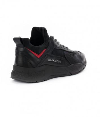 Мужские кожаные кроссовки Crime London Komrad черные