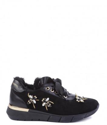 Замшевые кроссовки на меху Helena Soretti 3042 с декором