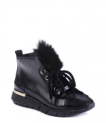 Кожаные ботинки Helena Soretti 3005 с замшевыми вставками на меху
