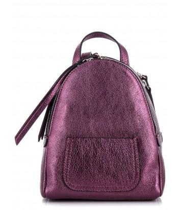 Пурпурный рюкзак Gianni Chiarini 6633 из блестящей кожи