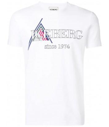 Белая мужская футболка ICEBERG с логотипом