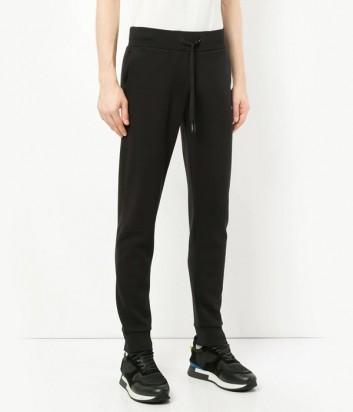Черные трикотажные штаны ICEBERG с белым логотипом