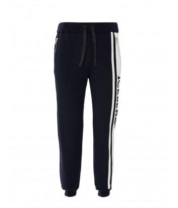 Спортивные шерстяные штаны ICEBERG синие с белым лампасами и логотипом