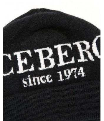 Женская кашемировая шапка ICEBERG с логотипом черная