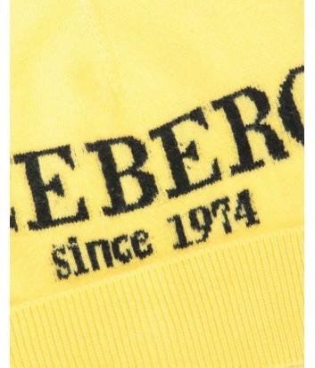 Женская кашемировая шапка ICEBERG с логотипом желтая