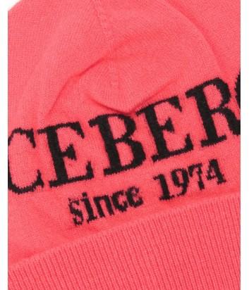 Женская кашемировая шапка ICEBERG с логотипом красная