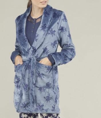 Голубой халат Gisela 1523 с узором