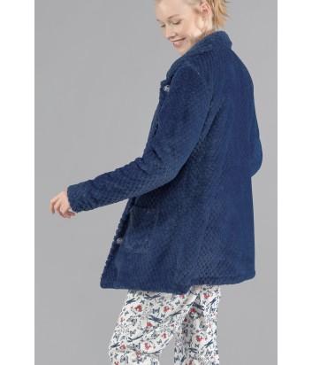 Флисовая домашняя толстовка Gisela 1557 синяя