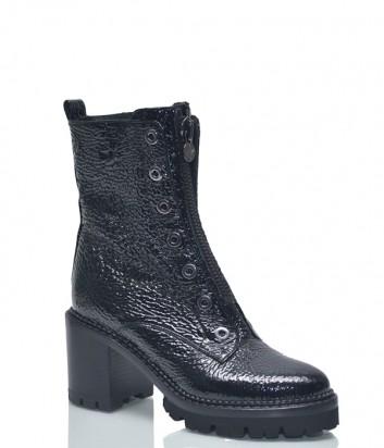 Лаковые ботинки Nando Muzi 468 на широком каблуке