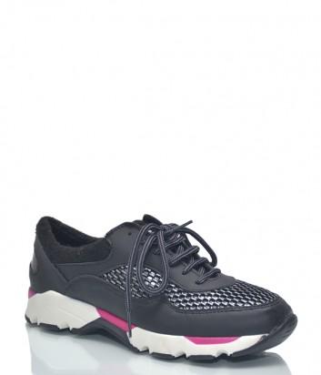 Женские кожаные кроссовки Baldinini BN11 черные