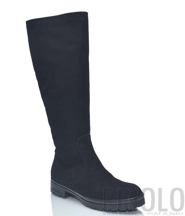 48c778c39 Черные замшевые сапоги Baldinini BN328 на низком ходу - купить в ...