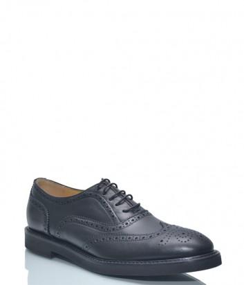 Кожаные туфли-броги Roberto Serpentini 609 с перфорацией черные