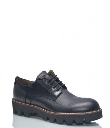 Кожаные туфли-броги Baldinini BN26 на протекторной подошве черные