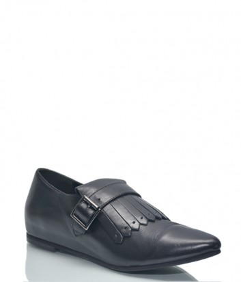 Черные кожаные туфли Baldinini BN327 с острым носком
