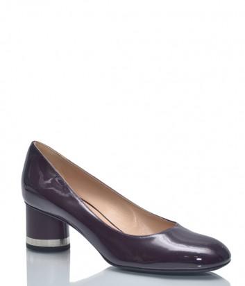Лаковые туфли Baldinini BN89 на круглом каблучке фиолетовые