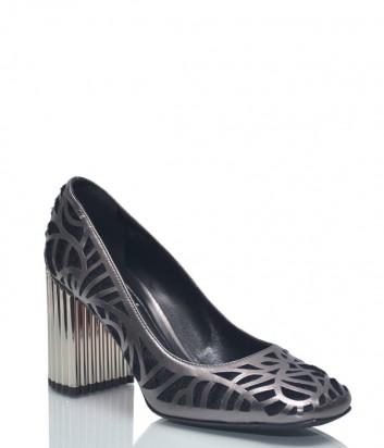 Черные туфли Baldinini BN87 с серебристым резным узором