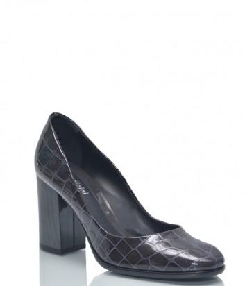 Серые лаковые туфли Baldinini BN83 с тиснением под крокодила