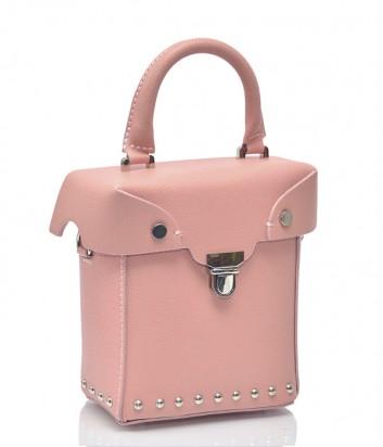 Розовая кожаная сумка Leather Country 1172 со съемной ручкой-цепочкой