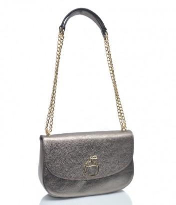 Бронзовая кожаная сумка Leather Country 3093091 на цепочке