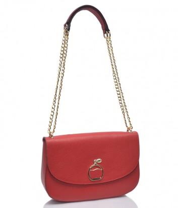 Красная кожаная сумка Leather Country 3093091 на цепочке