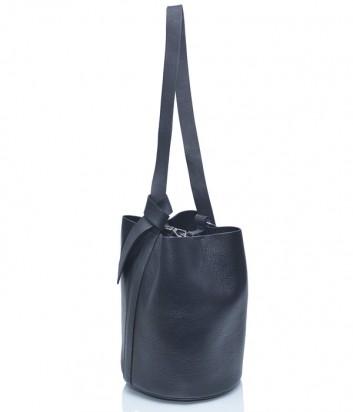 Черная кожаная сумка Leather Country 2893248 в форме бочонка