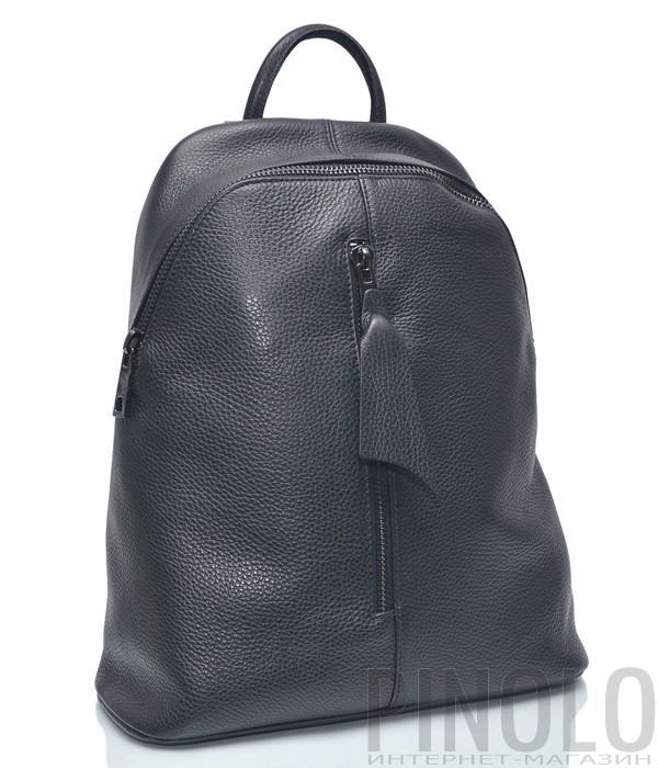 Черный кожаный рюкзак Leather Country 4292953 с вертикальной молнией