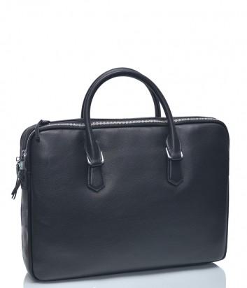 Черная кожаная сумка Leather Country 6993106 на два отделения