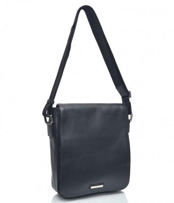 Мужская кожаная сумка через плечо Baldinini 672067 черная