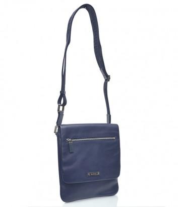Мужская кожаная сумка через плечо Baldinini 672037 синяя