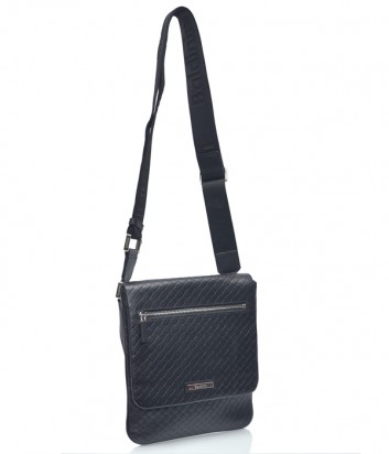 Мужская кожаная сумка через плечо Baldinini 672037 черная