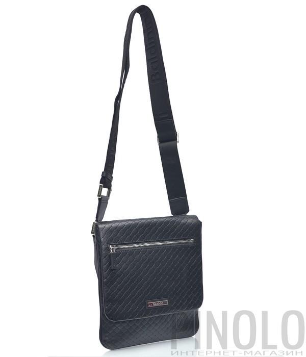 b0ed0e994ca1 Мужская кожаная сумка через плечо Baldinini 672037 черная - купить в ...