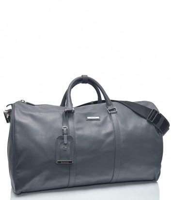 Большая кожаная сумка Baldinini 672042 серая