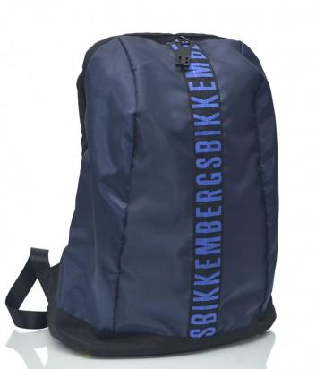 Мужской рюкзак Bikkembergs 1011 с брендированной полоской синий
