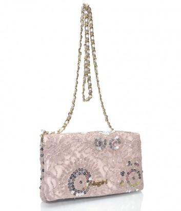 Нежно-розовая сумка на цепочке Blugirl 8079 расшитые пайетками