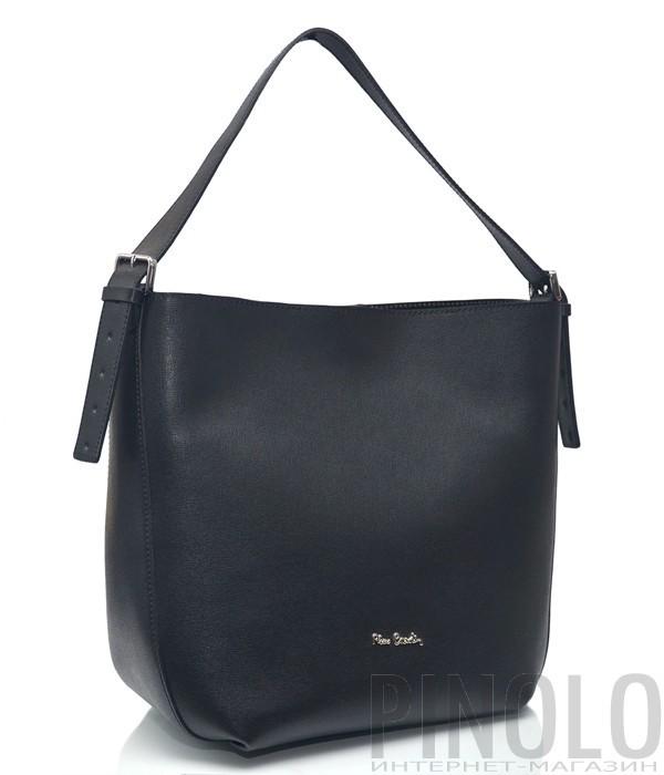 9b7e2e3f Кожаная сумка-шоппер Pierre Cardin 9506 черная - купить в Интернет ...