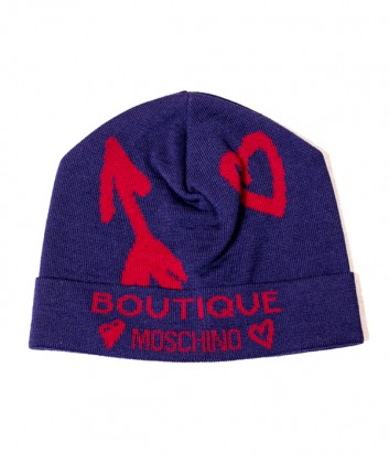 Женская шапка Moschino Boutique 65125 синяя