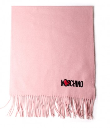 Женский шерстяной шарф Moschino 30578 пудровый