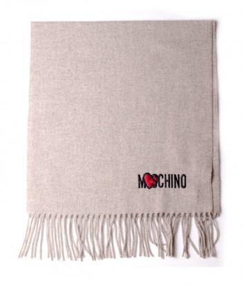 Женский шерстяной шарф Moschino 30578 кофейный