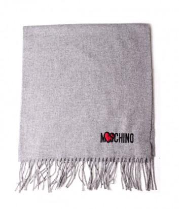 Женский шерстяной шарф Moschino 30578 серый