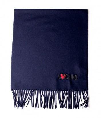 Женский шерстяной шарф Moschino 30578 синий