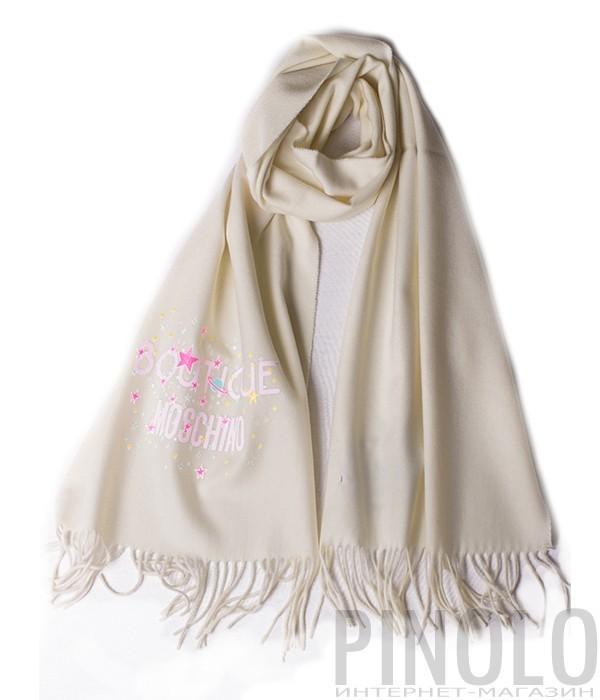 Теплый женский шарф Moschino Boutique 30587 молочный
